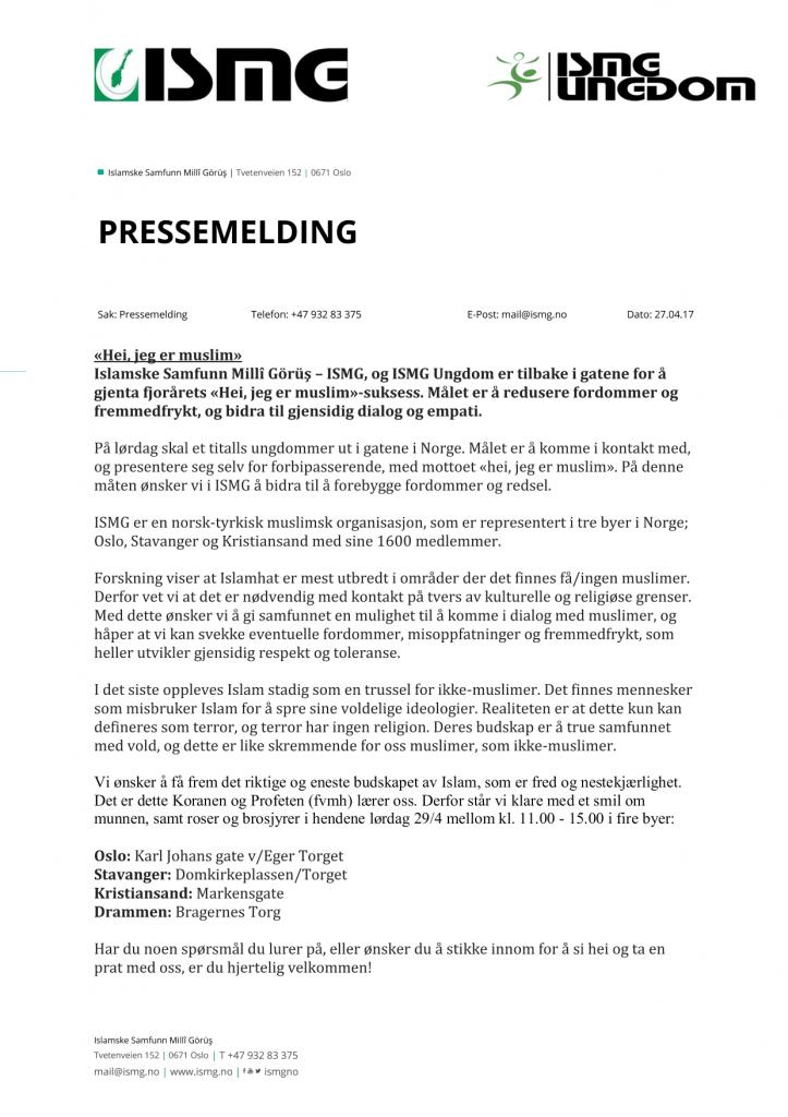 e4c31962 Pressemelding – Hei, Jeg er Muslim | ISMG